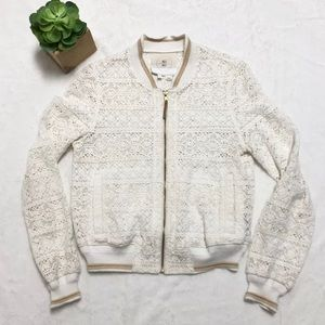 Anthropologie Hei Hei Medium Crochet Jacket